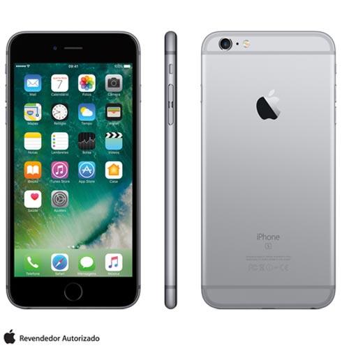 Iphone 6s Plus Cinza Espacial Com Tela de 5,5, 4g, 128 Gb e Camera de 12 Mp - Mkud2bza - Aemkud2bzacnz