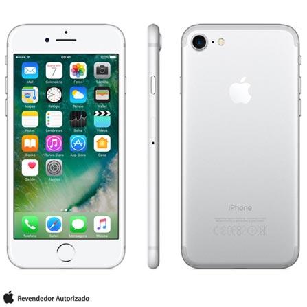 Iphone 7 Prata Com Tela de 4,7, 4g, 32 Gb e Camera de 12 Mp - Mn8y2bz/a - Aemn8y2bzapta Bivolt